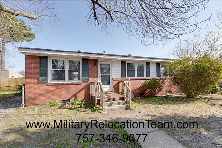 2907 Mayon Drive Chesapeake VA 23325 FOR RENT by The Hampton Roads Military Relocation Team!