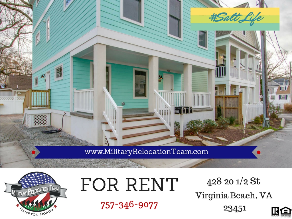 FOR RENT 428 20 1/2 St Unit A VIRGINIA BEACH VA 23451 by The Hampton Roads Military Relocation Team