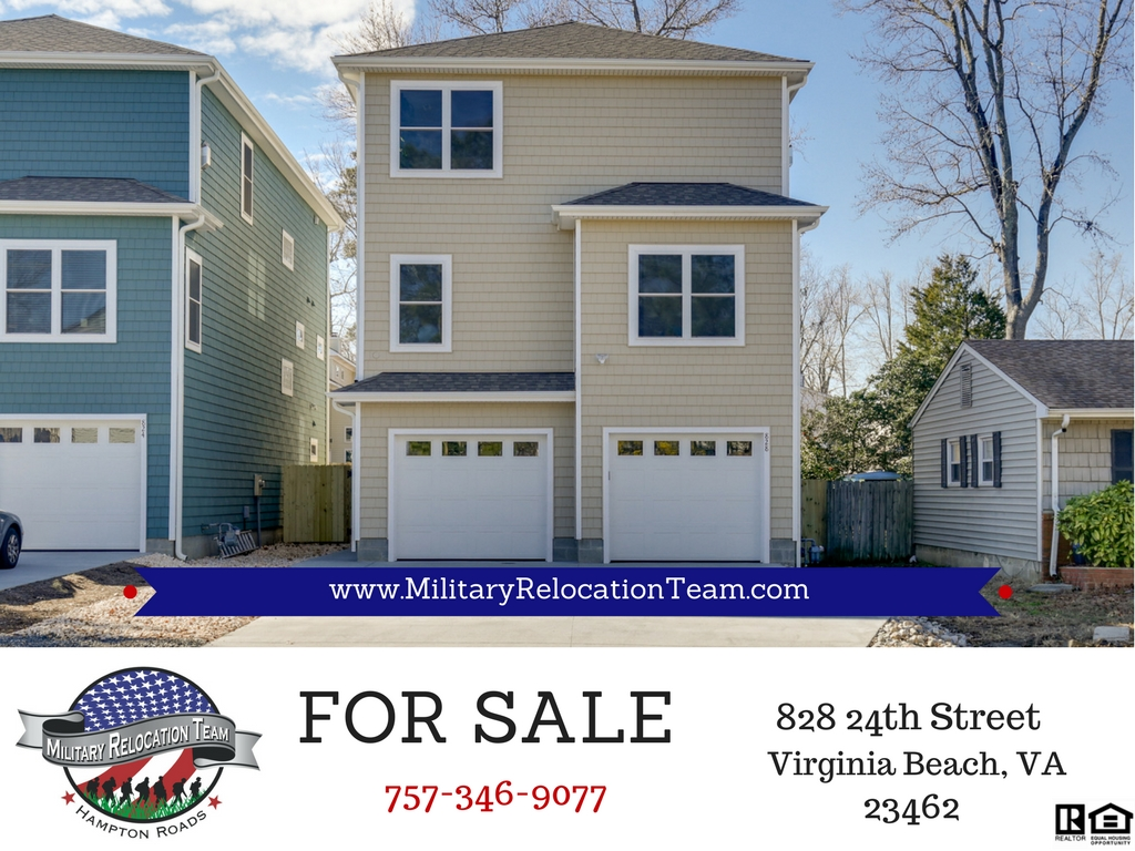 828 24TH STREET VIRGINIA BEACH VA, 23451 FOR SALE by The Hampton Roads Military Relocation Team!