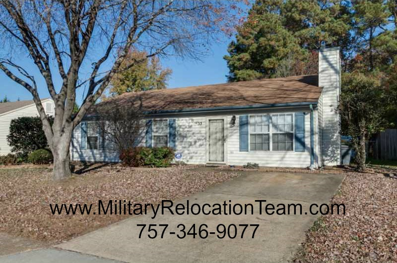 33 Peterborough Hampton, VA 23666 FOR RENT by The Hampton Roads Military Relocation Team!
