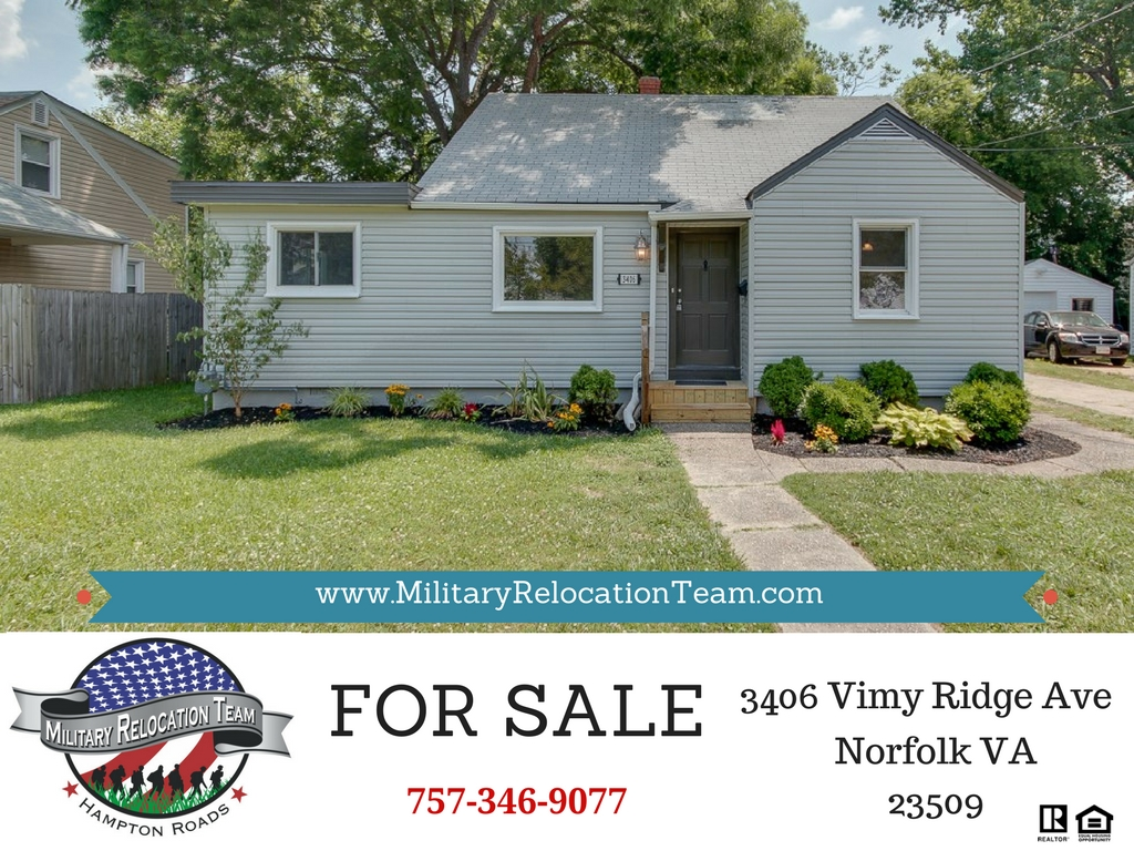 3406 VIMY RIDGE AVE NORFOLK, VA 23509 FOR SALE by The Hampton Roads Military Relocation Team