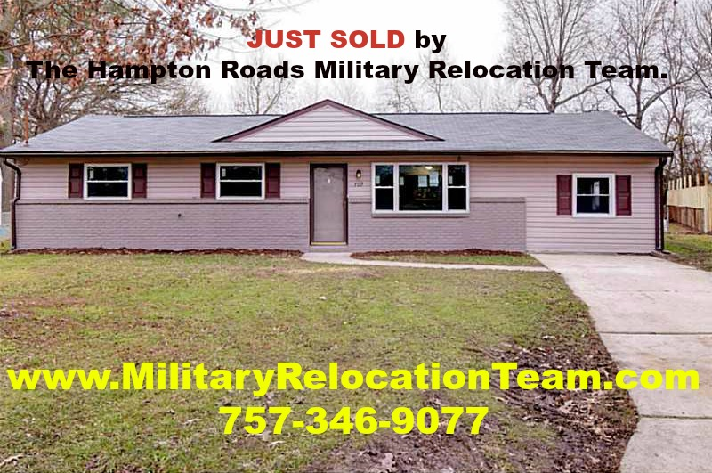 709 Farnham Lane Virginia Beach VA 23462 JUST SOLD by Becky Schneider of The Hampton Roads Military Relocation Team!