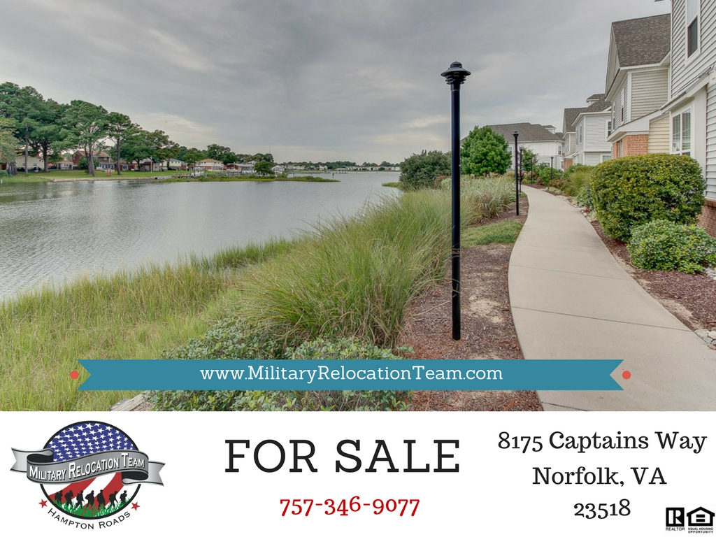 8175 CAPTAINS WAY NORFOLK, VA 23518 FOR SALE by The Hampton Roads Military Relocation Team