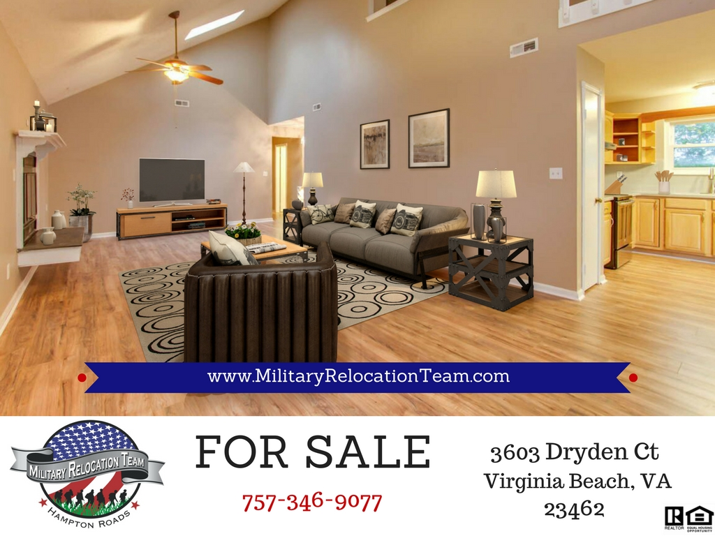 3603 DRYDEN CT VIRGINIA BEACH, VA 23462 FOR SALE by The Hampton Roads Military Relocation Team