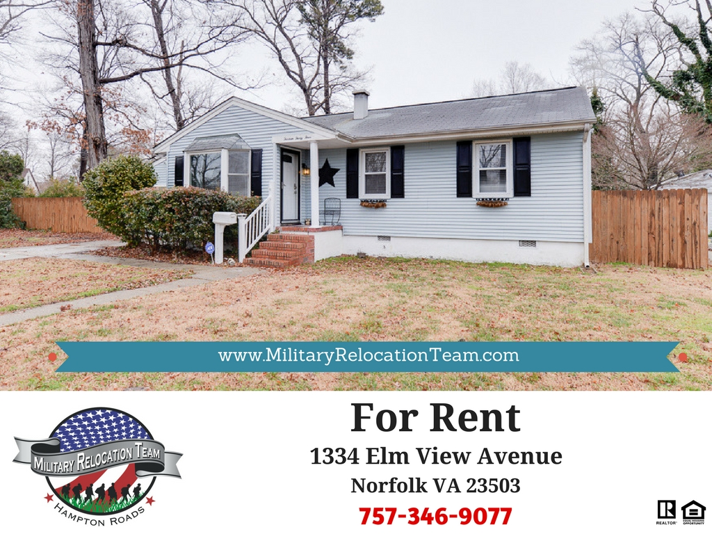 1334 ELM VIEW AVE NORFOLK VA 23503 FOR RENT by The Hampton Roads Military Relocation Team!