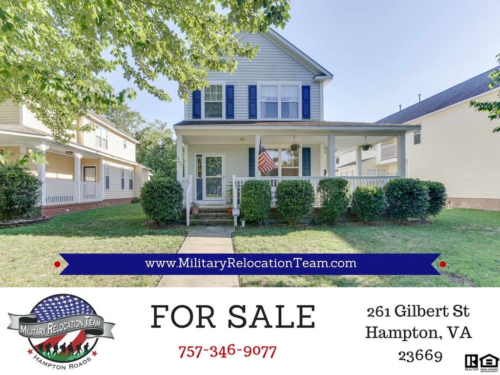 FOR SALE 261 W GILBERT ST HAMPTON, VA 23669 by The Hampton Roads Military Relocation Team