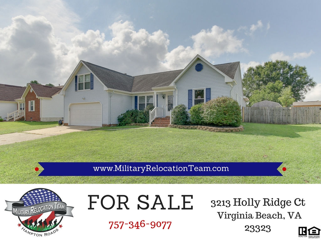 FOR SALE 3213 HOLLY RIDGE CT CHESAPEAKE, VA 23323 by The Hampton Roads Military Relocation Team