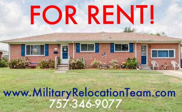 709 HOUDON LANE VIRGINIA BEACH VA, 23455 FOR RENT by The Hampton Roads Military Relocation Team!