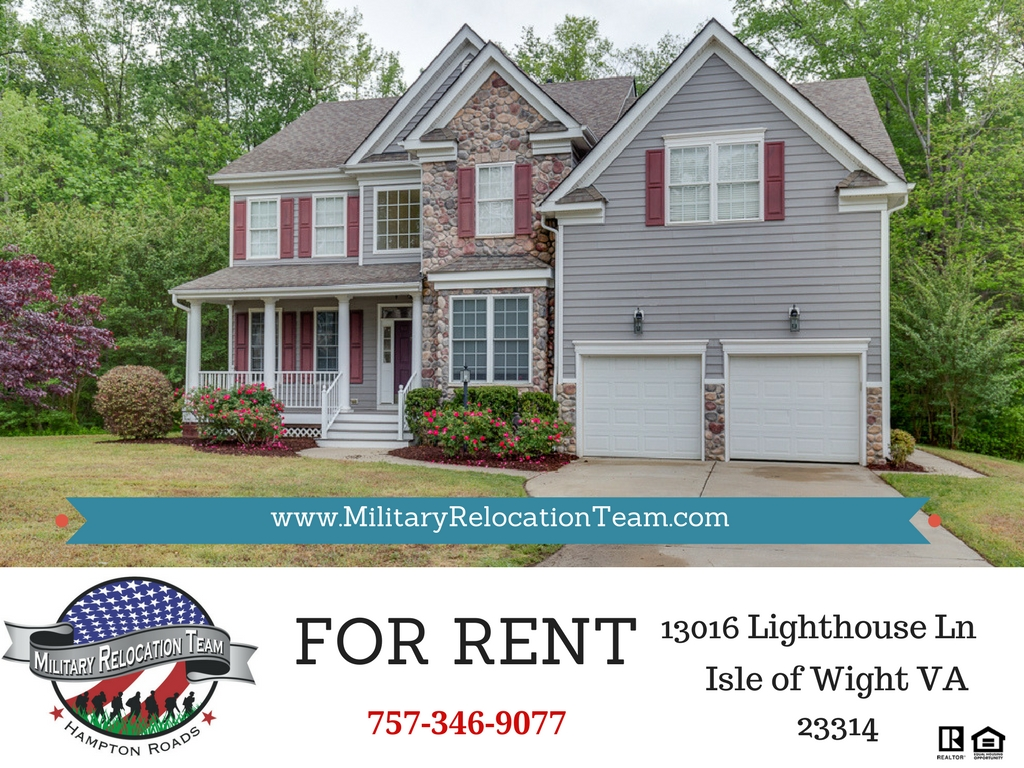 13016 LIGHTHOUSE LN ISLE OF WIGHT VA 23314 FOR RENT by The Hampton Roads Military Relocation Team