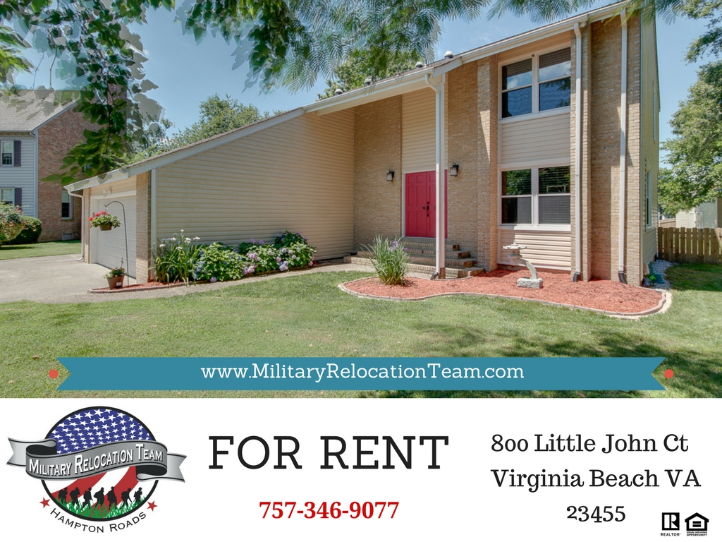 800 LITTLE JOHN CT VIRGINIA BEACH VA 23455 FOR RENT by The Hampton Roads Military Relocation Team