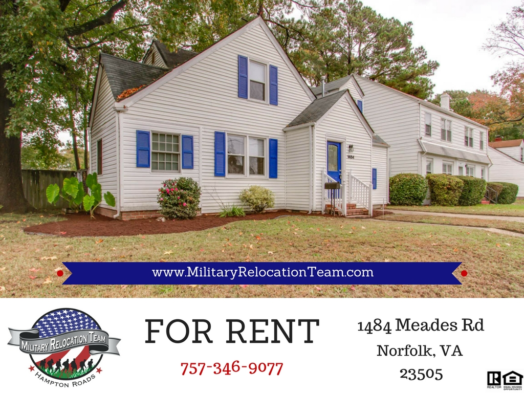 FOR RENT 1484 Meads Rd NORFOLK VA 23505 by The Hampton Roads Military Relocation Team