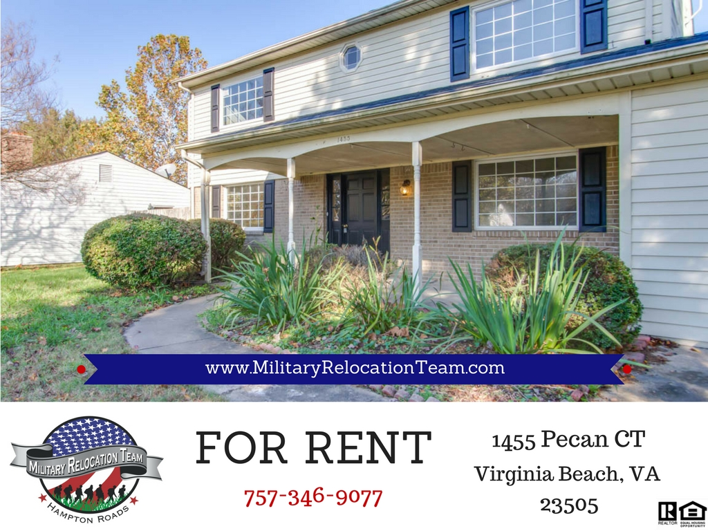FOR RENT 1455 Pecan Ct Virginia Beach, VA 23453 by The Hampton Roads Military Relocation Team