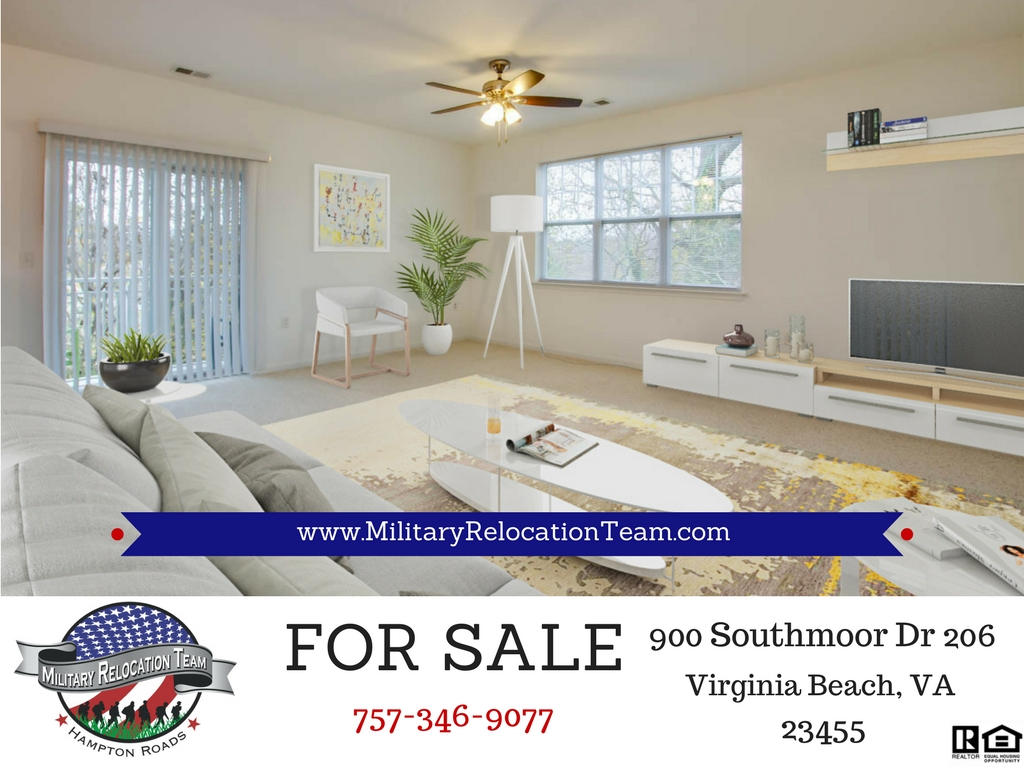 FOR SALE 900 SOUTHMOOR DR Unit 206 VIRGINIA BEACH, VA 23455 by The Hampton Roads Military Relocation Team