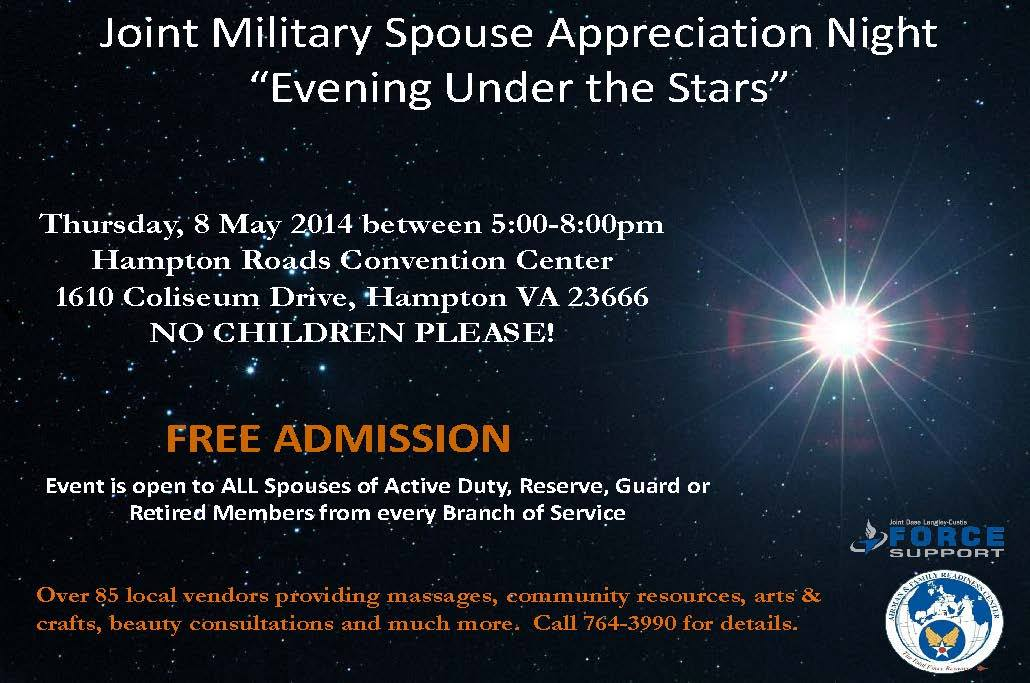 Join us at the Joint Military Spouse Appreciation Night