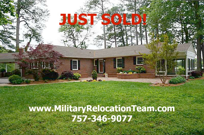 5227 Lake Shores Rd Virginia Beach VA 23455 JUST SOLD by Isabel Ruiz of The Hampton Roads Military Relocation Team