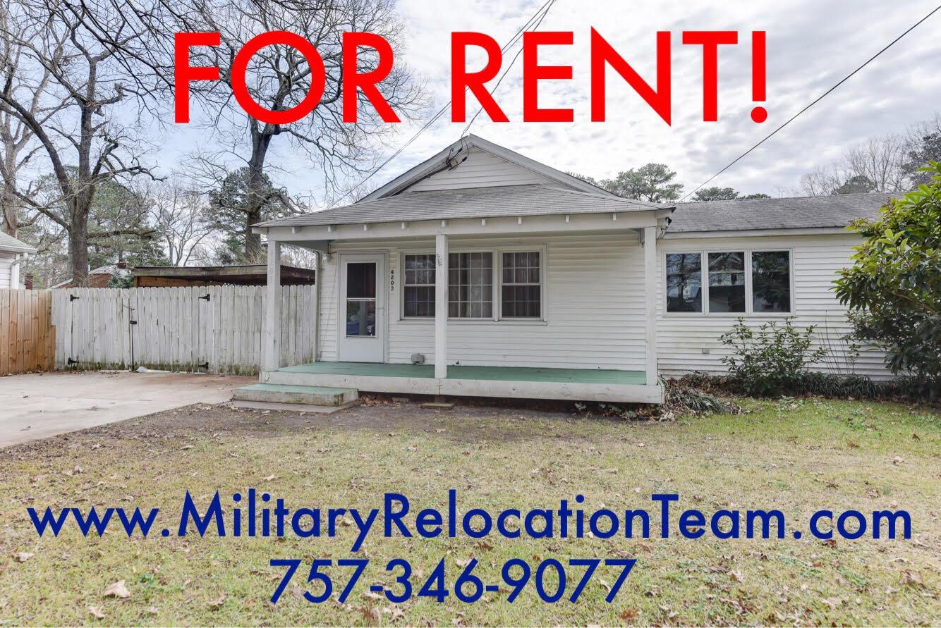 4203 DAVIS AVE CHESAPEAKE VA, 23325 FOR RENT by The Hampton Roads Military Relocation Team!