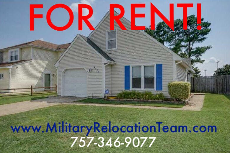 4121 MAYCOX COURT VIRGINIA BEACH VA, 23453 FOR RENT by The Hampton Roads Military Relocation Team!
