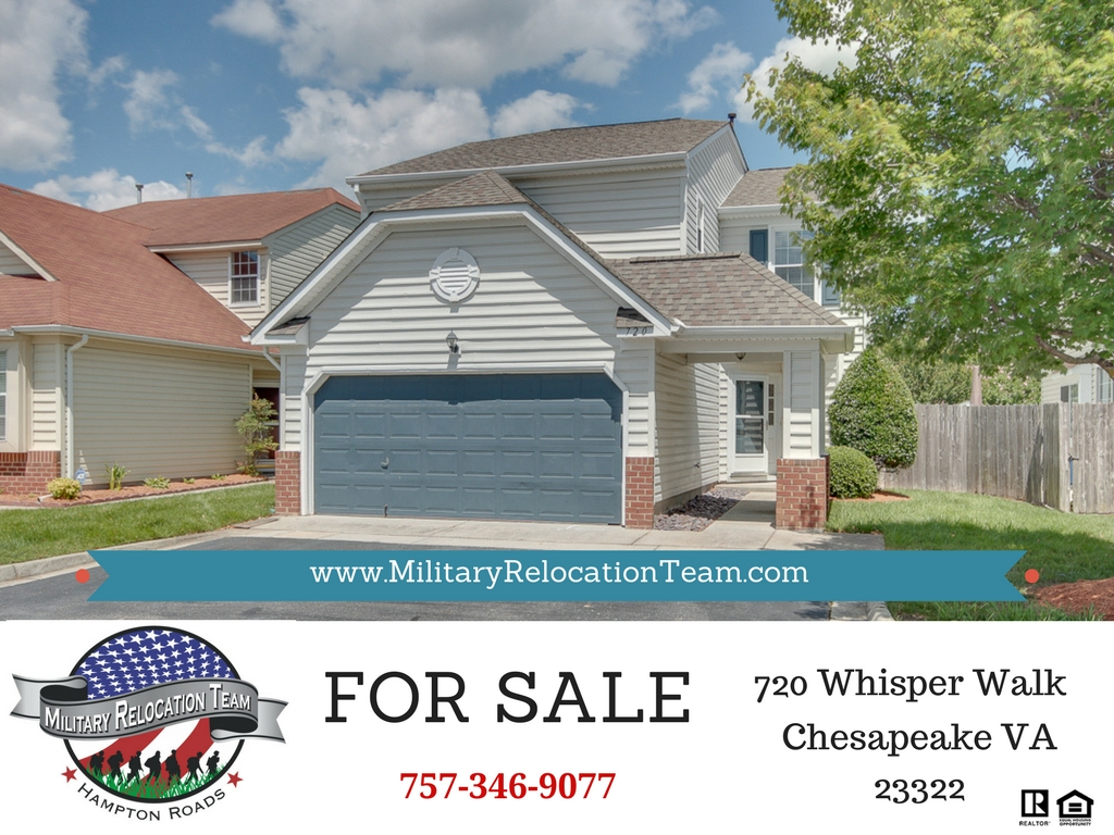 720 WHISPER WALK CHESAPEAKE VA 23322 FOR SALE by The Hampton Roads Military Relocation Team