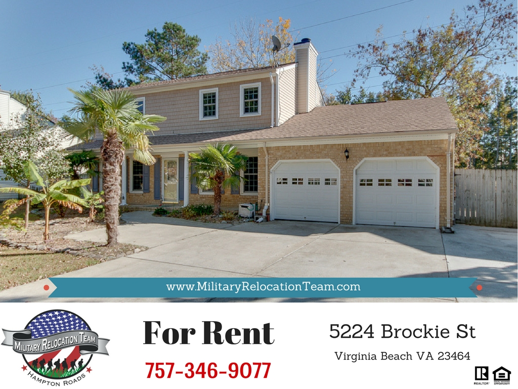 5224 BROCKIE ST VIRGINIA BEACH VA 23464 FOR RENT by The Hampton Roads Military Relocation Team