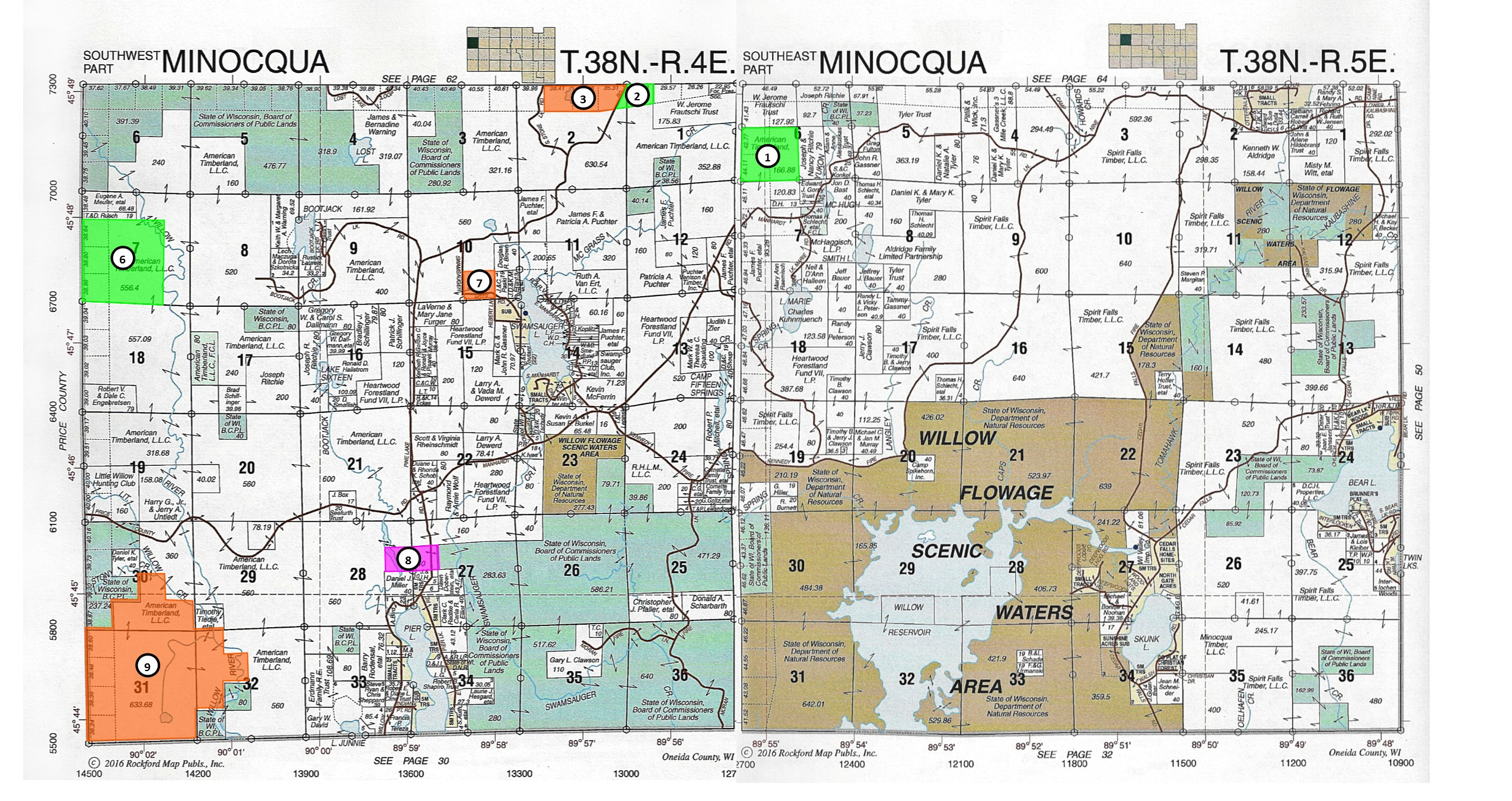 Looking for some serious acreage in the Minocqua area?