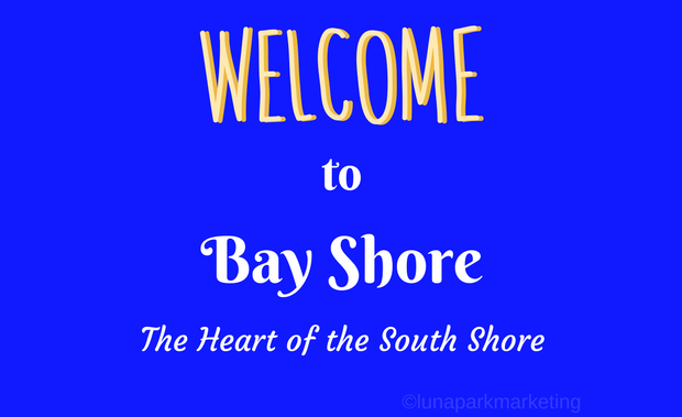 Welcome to Bay Shore sign canva