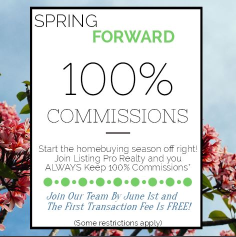 Keep 100% Commissions This Spring