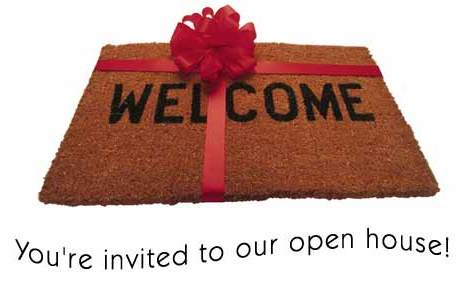 Wecome Open House Mat