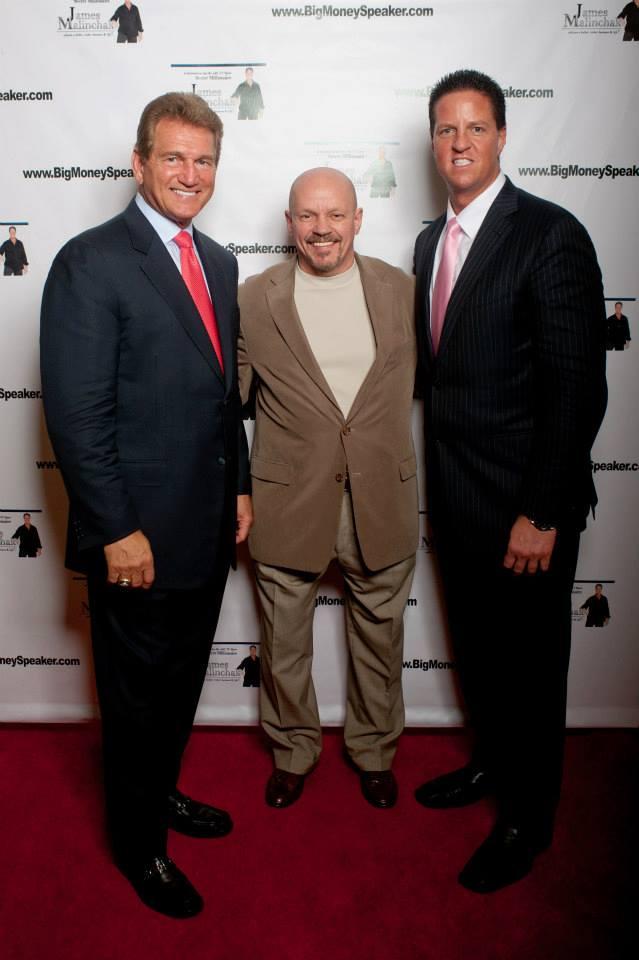 Alex Szinegh with Joe Theisman and James Malinchak