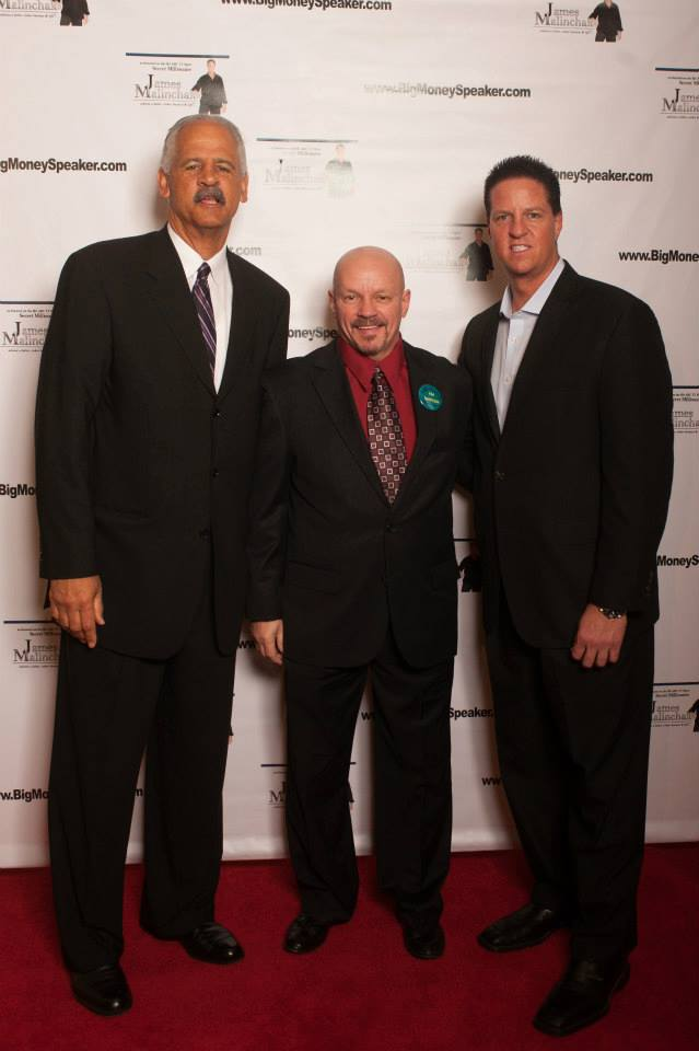Alex with Stedman Graham and James Malinchak