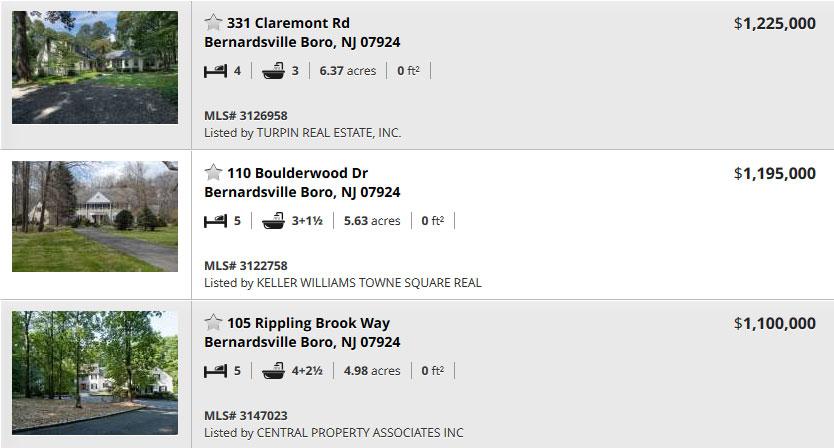 Bernardsville Homes for Sale